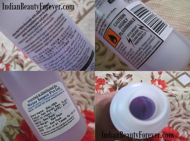 Enliven Conditioning nail polish remover Review