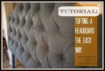 Tufting a Headboard the EASY Way | Pneumatic Addict