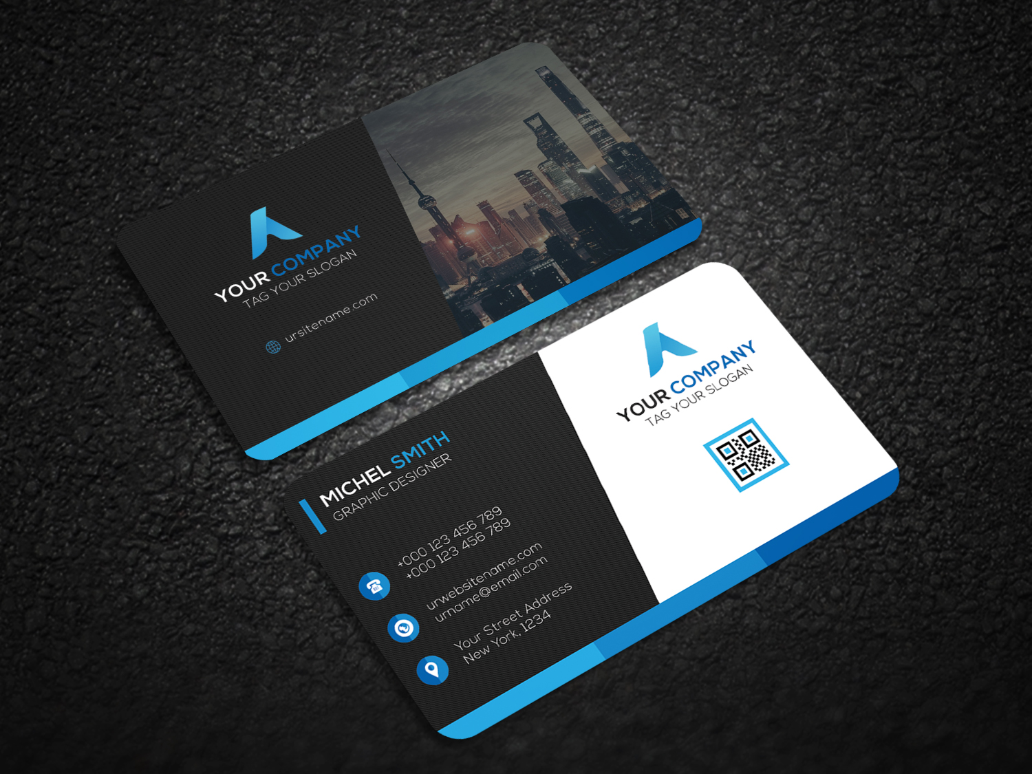How To Create A Corporate Business Card With Photo For Graphicriver ...