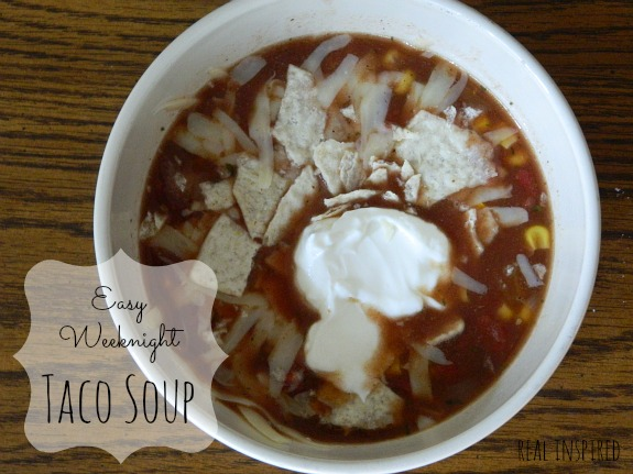 easy weeknight taco soup