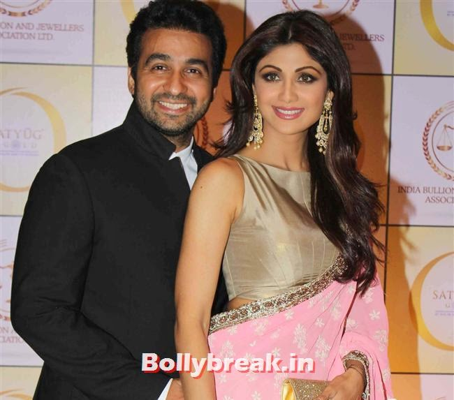 Raj Kundra and Shilpa Shetty, Shilpa Shetty, Geeta Basra & Raveena Tandon Sizzle at Satyug Gold Launch