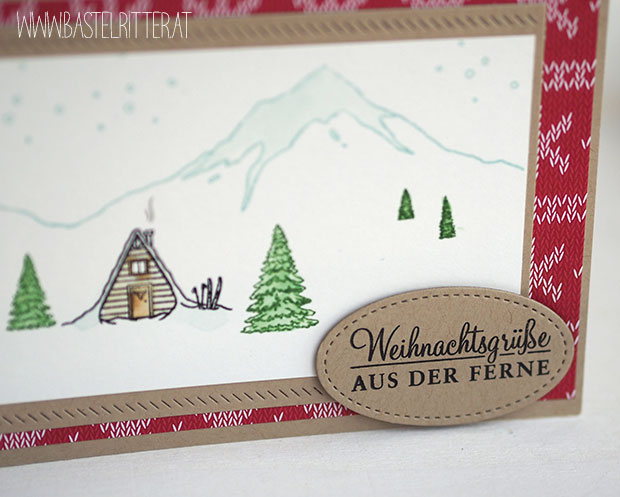 mountain adventure stitched frame stampin up bastelritter