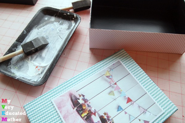 Decoupage and upcycle your subscription beauty boxes into stylish storage.