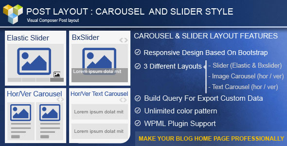 Free Download Post Layout: Carousel + Slider for Visual Composer V2.4