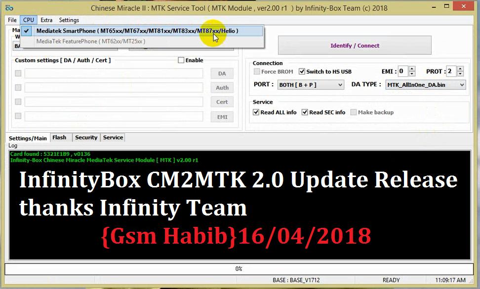 Smart Mobile Firmware: InfinityBox CM2 MTK 2 0 Update Release Free