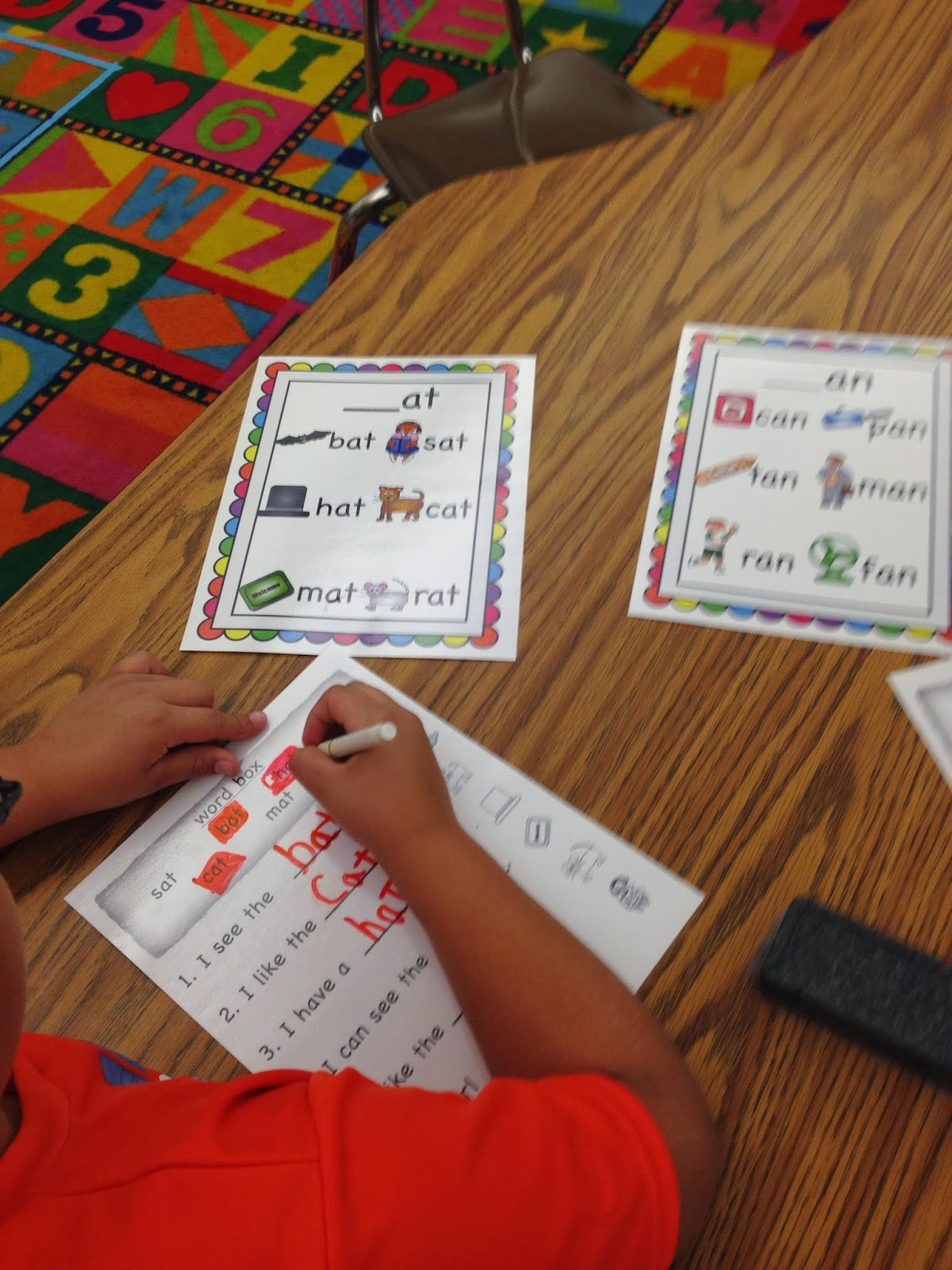Word families first grade word work