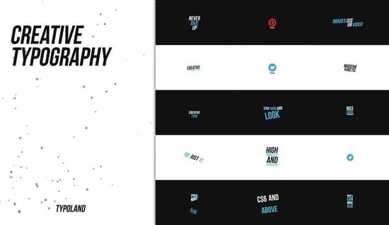 مشروع حركات تايبوجرافي ابداعية للنصوص للافتر افكت CS6 فأعلى