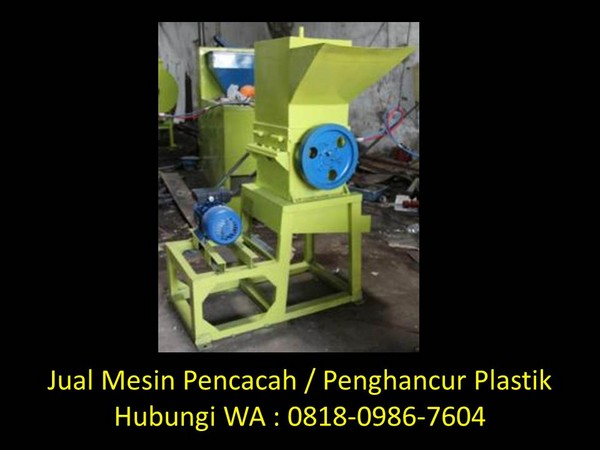 cara kerja mesin cacah plastik di bandung