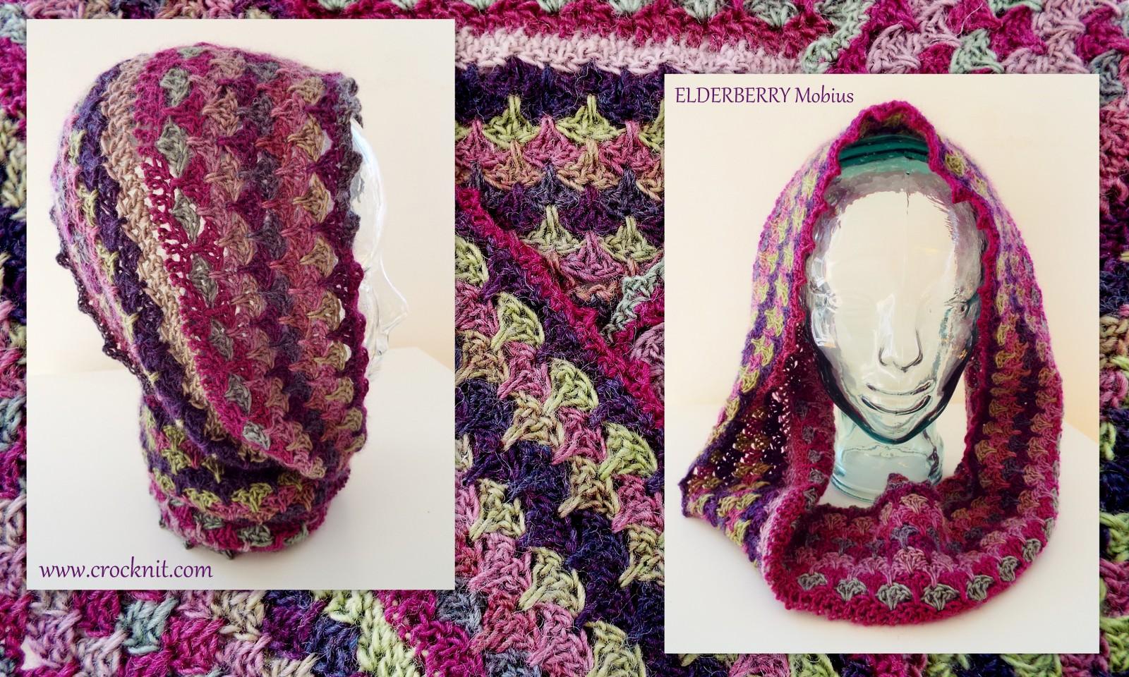 MICROCKNIT CREATIONS: ELDERBERRY Mobius Crochet Pattern