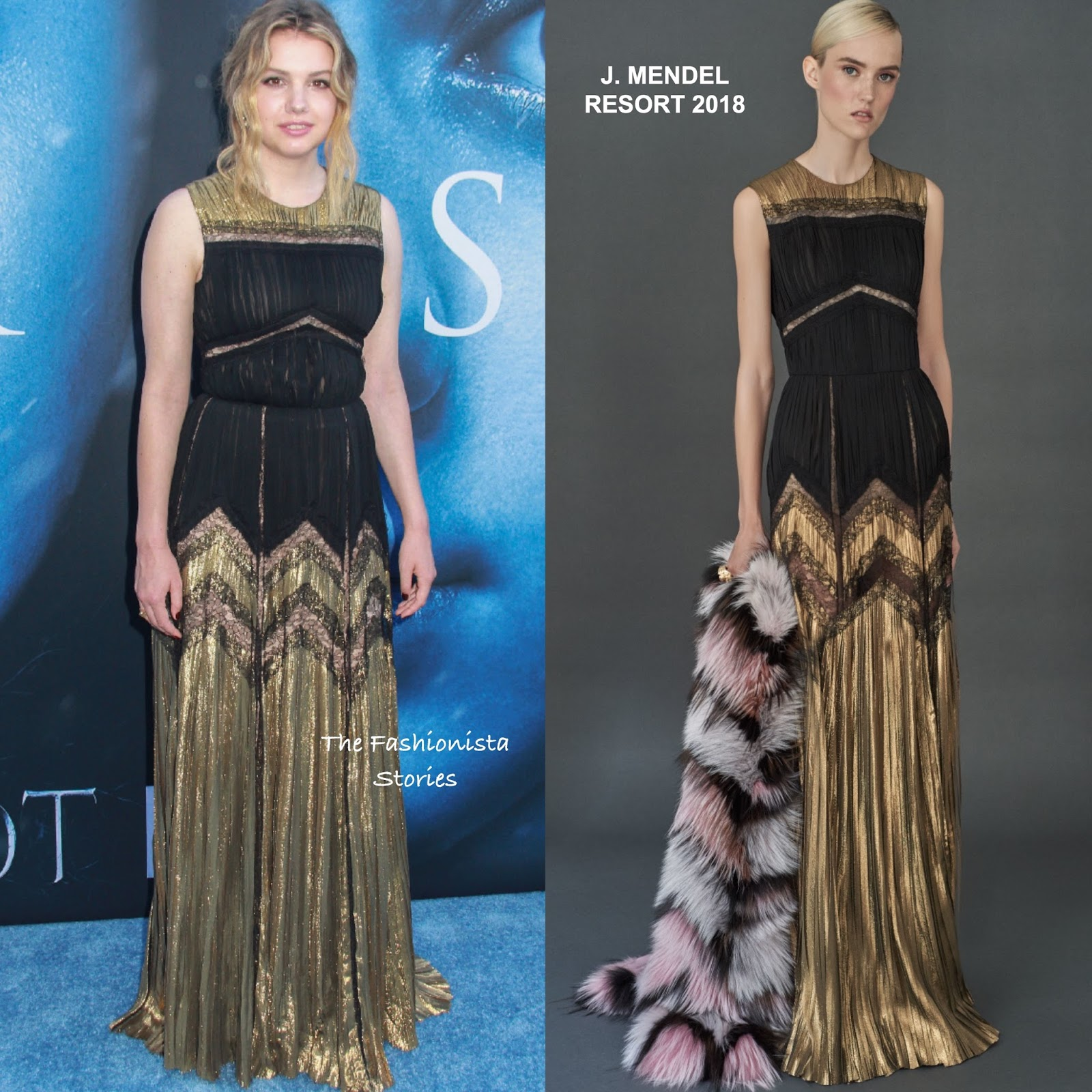 Hannah Murray in J. Mendel at the \'Game Of Thrones\' Season 7 LA Premiere