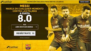 betfair supercuota 8 Messi marca a Las Palmas 1 octubre