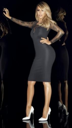kardashian kollection for lipsy black long sleeve shift dress gbp5500 lipsycouk - FIRST PHOTO SHOOT OF KIM K AFTER GIVING BIRTH