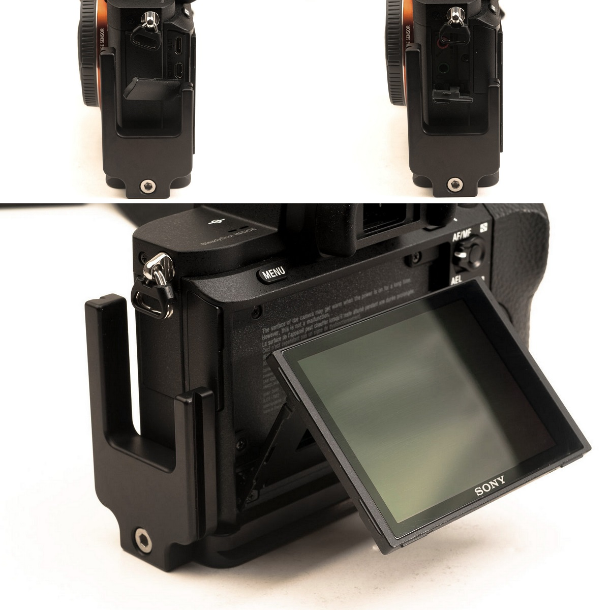 Hejnar PHOTO S-A-7II L Bracket on SONY a7II - side fitting details