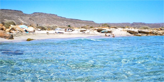 Spiaggia di Xerokambos, a Creta