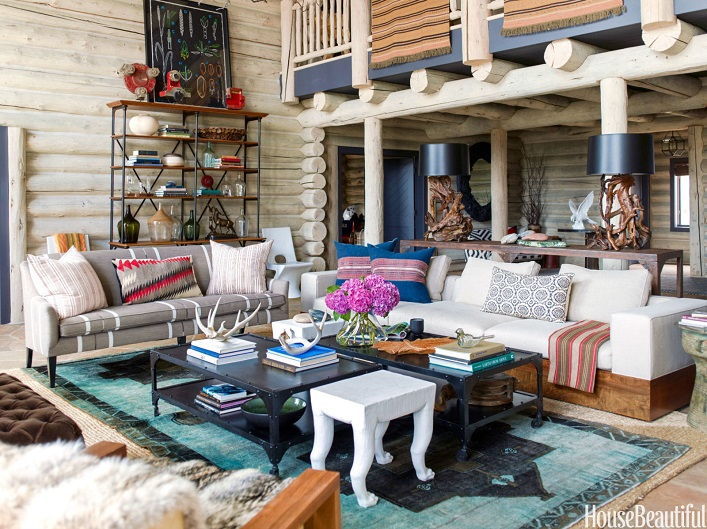 Mix And Chic: An Effortlessly Fresh And Chic Log Cabin In