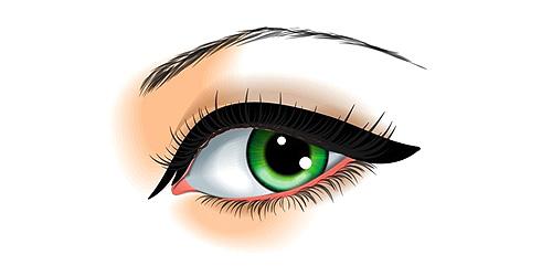 delineado para ojos separados