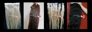 Mega hair com telas