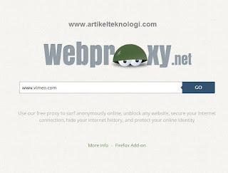 Cara Menghilangkan Internet Positif  dan Cara Membuka Situs Yang Diblokir dengan Menggunakan Web Proxy