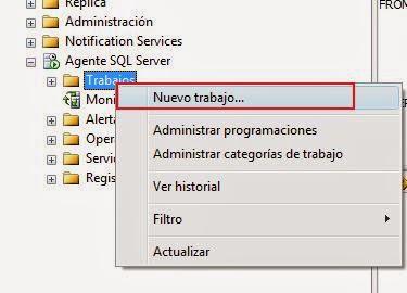 nuevo trabajo SQL server