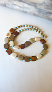fifth anniversary wooden jewelry gift necklace