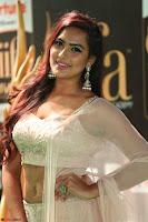 Prajna Actress in bhackless Cream Choli and transparent saree at IIFA Utsavam Awards 2017 025.JPG