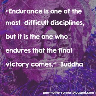 Balanced runner endurance running quote buddha