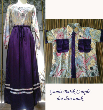 Batik Sarimbit Indonesia Gamis Serut Couple Ibu Dan Anak