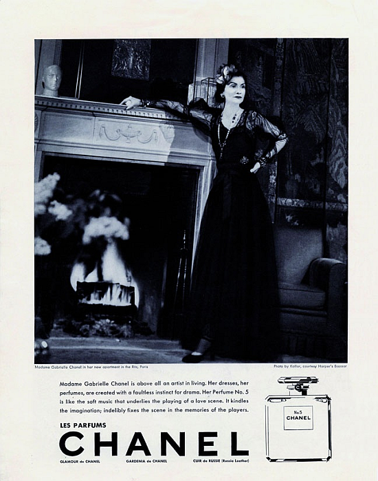 Coco Chanel CHANEL No.5 first perfume ad