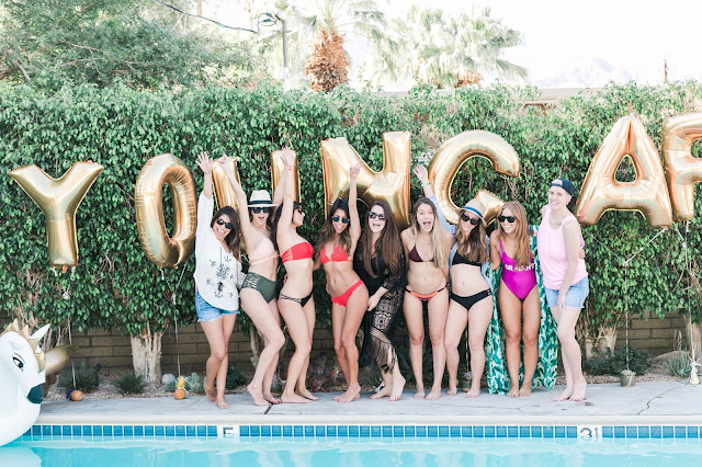 how to throw a pool party, colorful bikini, summer essentials