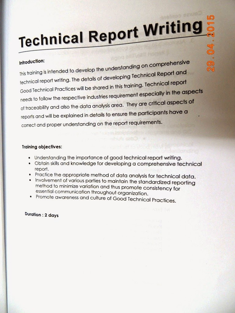 Write my technical report. Technical Report Example