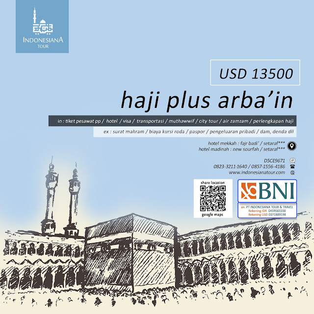 HAJI PLUS ARBA'IN USD 13.500