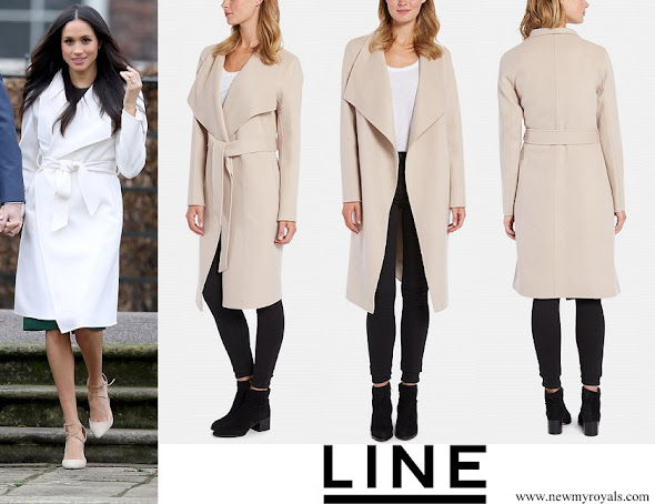 Meghan Markle wore LINE The Label Mara Wrap Coat