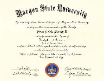 Bachelor degree of