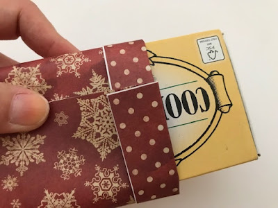Using match box as a form for a gift bag