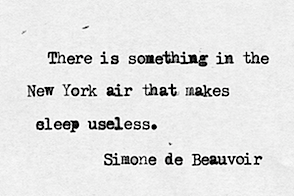 image result for best quote New York simone beauvoir