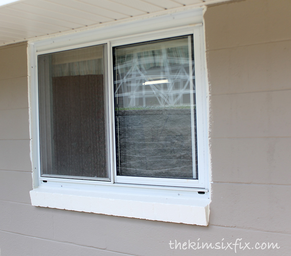 We also painted the sill and utilized the fact it was so - How to repair exterior window trim ...