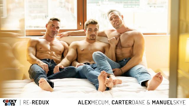 Cockyboys - Double Penetration: Alex Mecum, Carter Dane & Manuel Skye