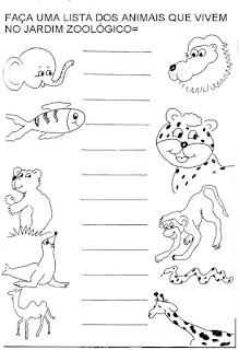 Fazer lista nomes animais