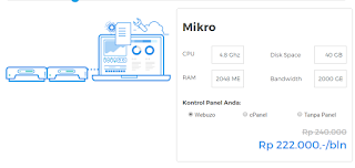 Cloud VPS Hosting Niagahoster Paket Mikro