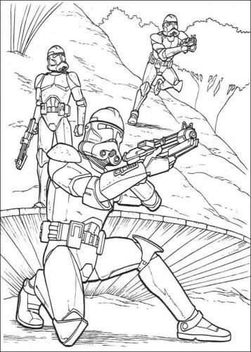 Clone Trooper Coloring Pages with regard to Encourage to color an ... | 500x357