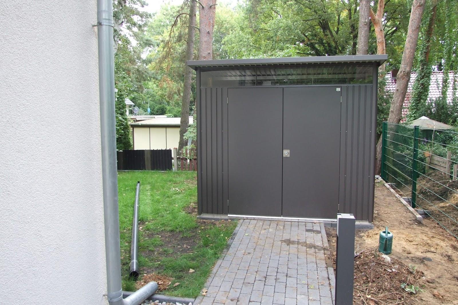 gartenhaus metall anthrazit el78 hitoiro. Black Bedroom Furniture Sets. Home Design Ideas