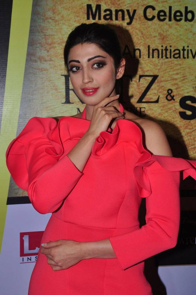 Pranitha In Red Dress At South Scope Lifestyle Awards