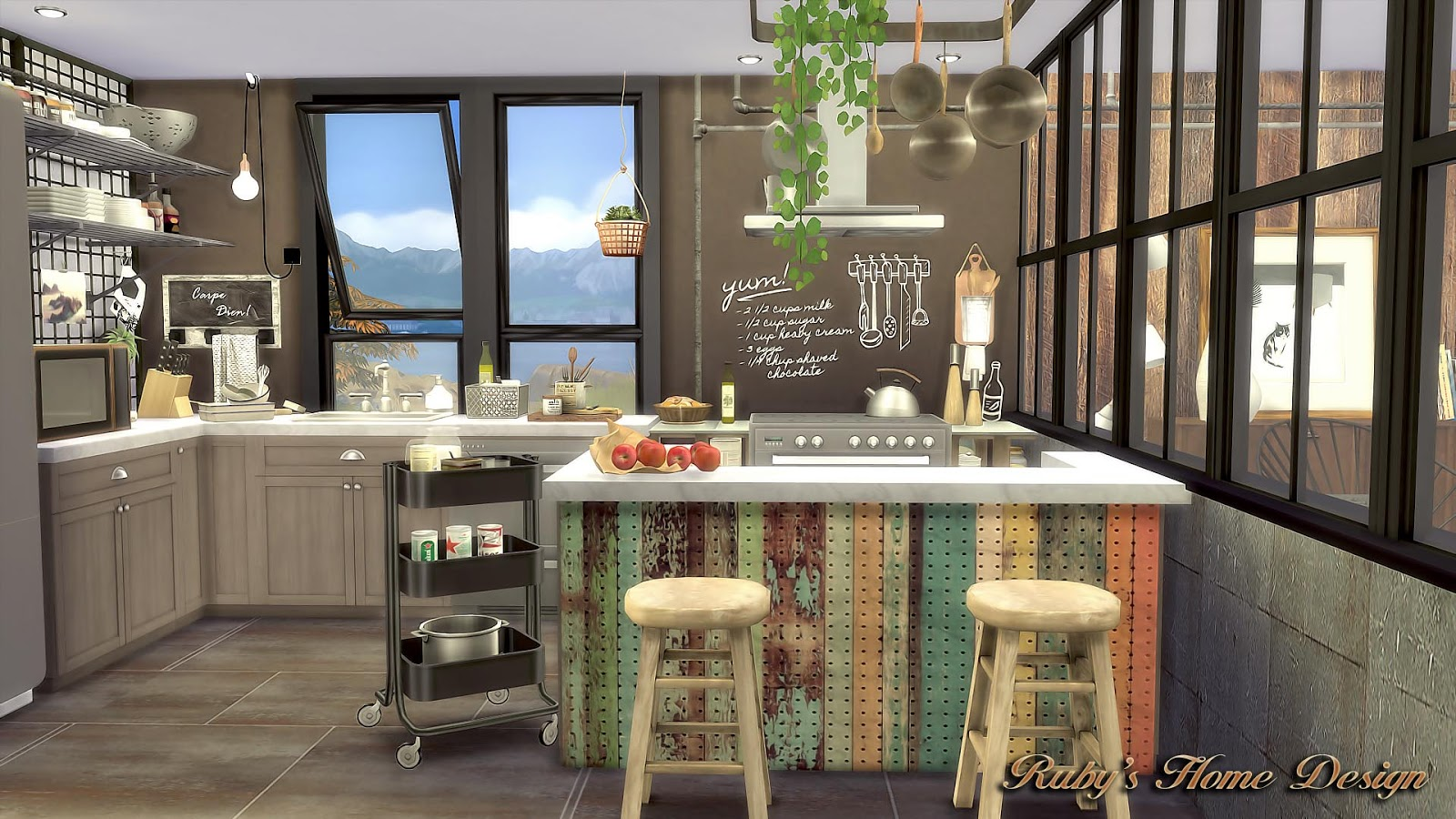 My Sims 4 Blog Mid Century Industrial Loft By Ruby Red