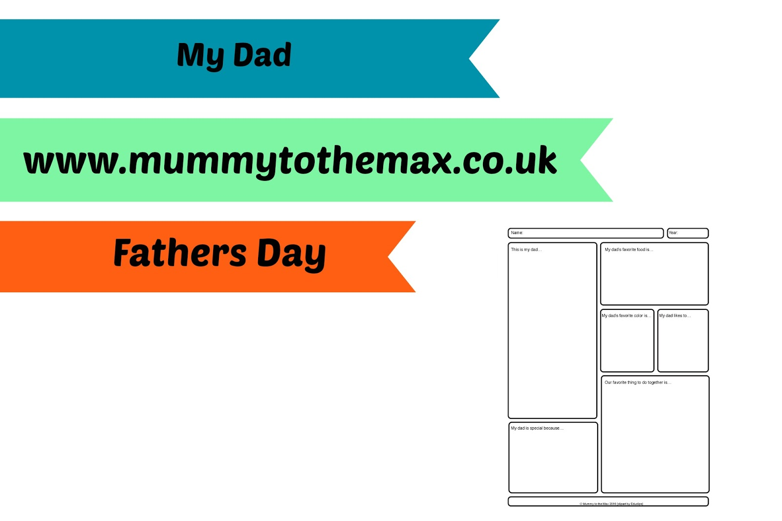 My Dad Worksheet & Free Printable | MUMMY TO THE MAX