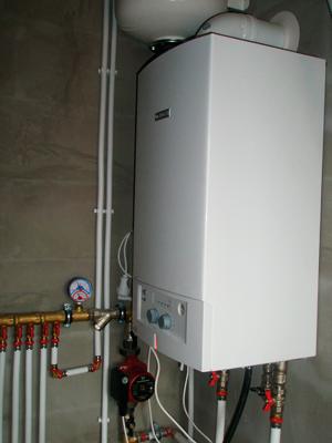 настенный газовый котел в системе отопления