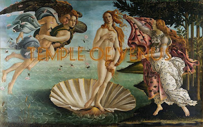 The Birth of Venus painting by Sandro Botticelli at the Uffizi Gallery, Italy 1485
