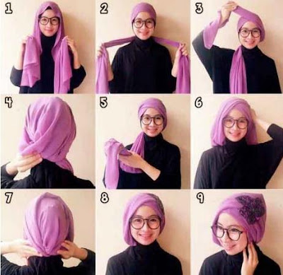 Tutorial hijab silang