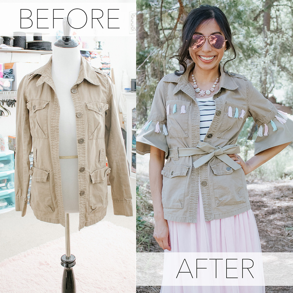 khaki jacket refashion