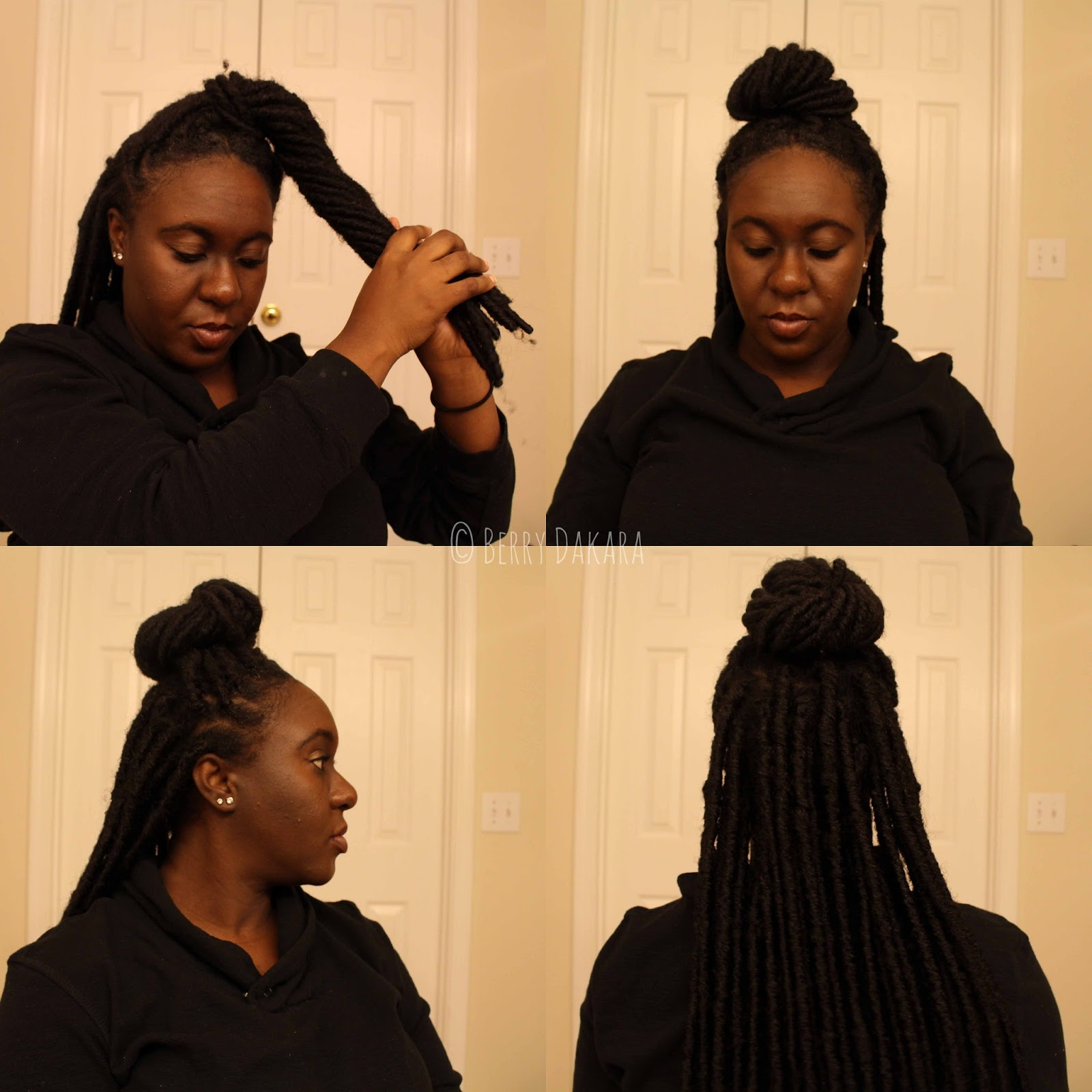 black hair, protective styles, crochet braids, faux locs, crochet locs, crochet faux locs, berry dakara, team natural