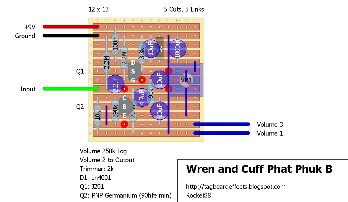 Guitar Fx Layouts Wren And Cuff Phat Phuk B Together With Overdrive Pedal Schematic On Dc To Ac Diagram Layout 1